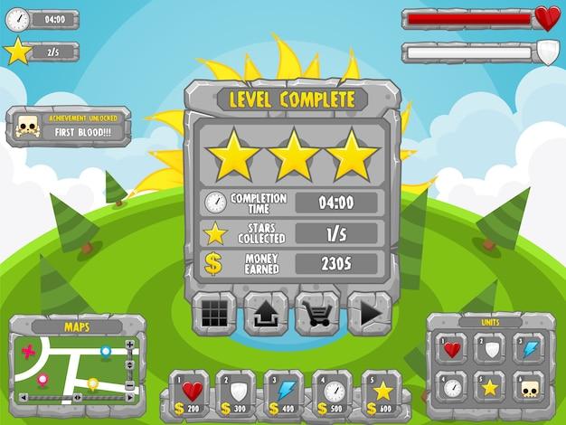 Interface do jogo de pedra