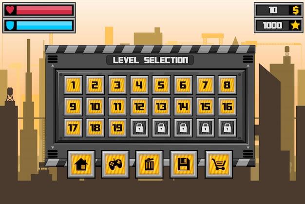 Interface do jogo do robô