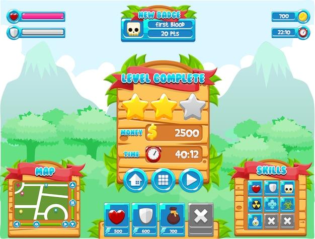 Interface do jogo na selva