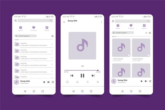 Interface do leitor de música