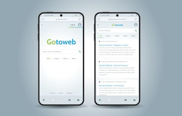 Interface do navegador da web