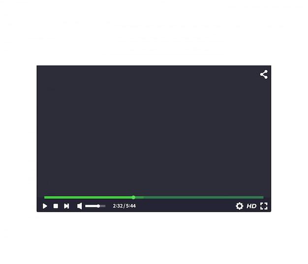 Interface do player de vídeo