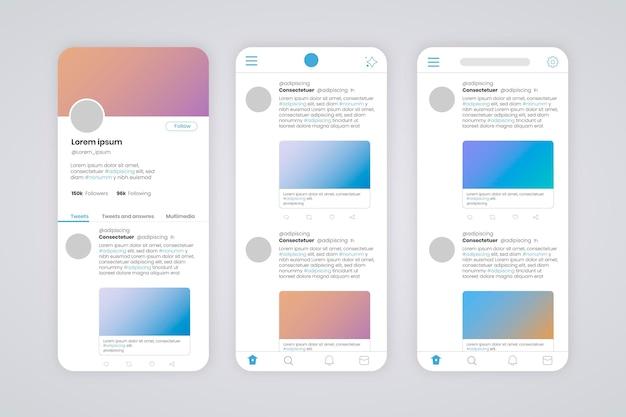Interface do twitter