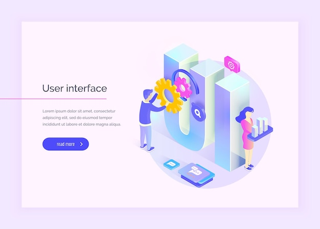 Interface do usuário as pessoas interagem com partes da interface crie uma interface do usuário