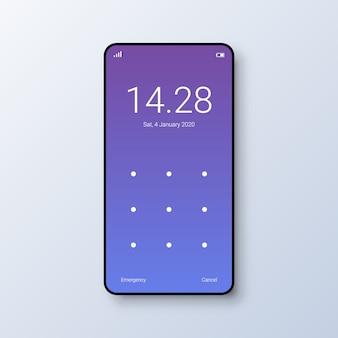Interface do usuário da tela de bloqueio de padrões