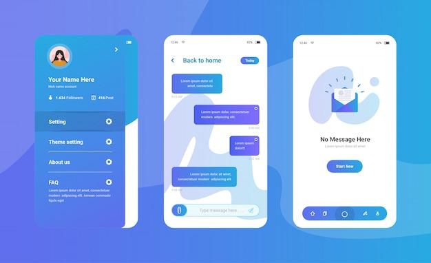 Interface do usuário do aplicativo de bate-papo