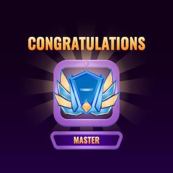 Interface do usuário do jogo classificada como interface principal Vetor Premium