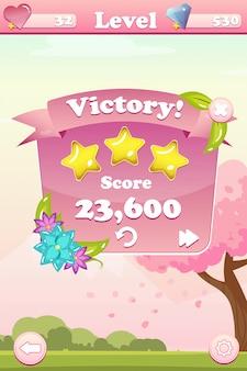 Interface do usuário do jogo da vitória
