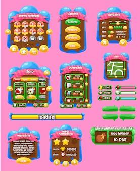 Interface do usuário do jogo de gelatina
