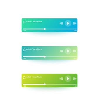 Interface do usuário do music player, design de interface