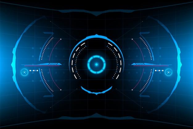 Interface do usuário do painel hud vr