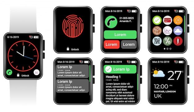 Interface do usuário do relógio inteligente