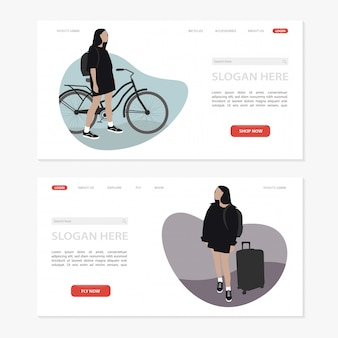 Interface do usuário do site