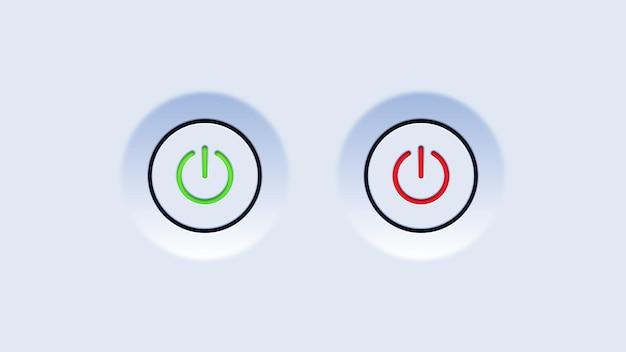 Interface dos botões liga e desliga