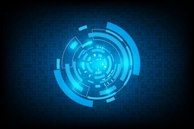 Interface futurista de tecnologia abstrata