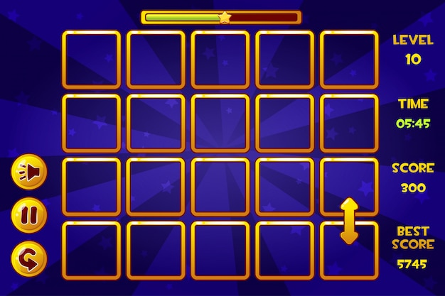 Interface match3 jogos e botões, ativos de jogos