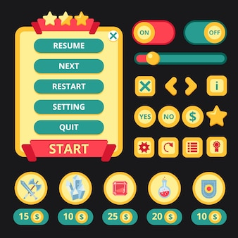 Interface medieval de jogo
