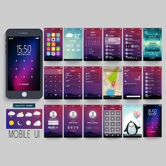 Interface móvel fantástica