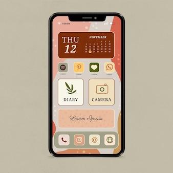 Interface orgânica da tela inicial