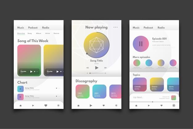 Interface para leitor de música