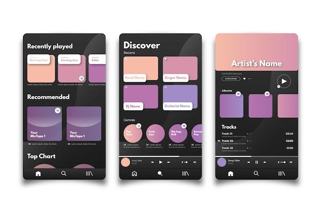 Interface para o aplicativo music player