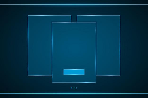 Interface quadrada hud