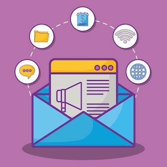 Interface web e envelope