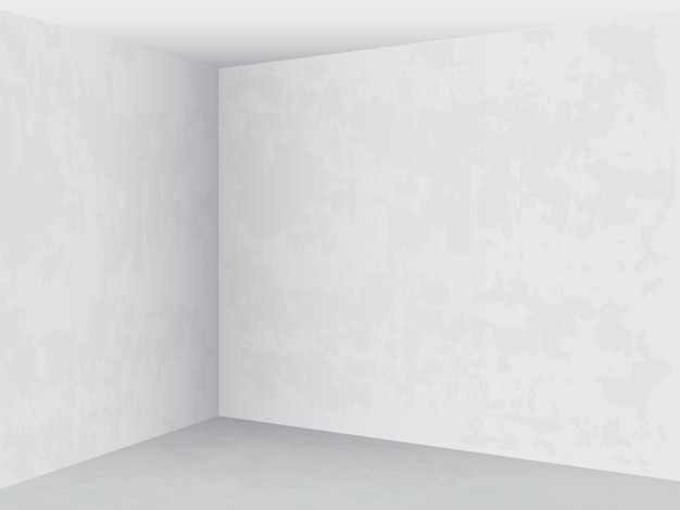 Interior brilhante da sala vazia.
