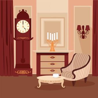 Interior clássico de sala de estar