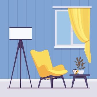 Interior criativo da sala de estar