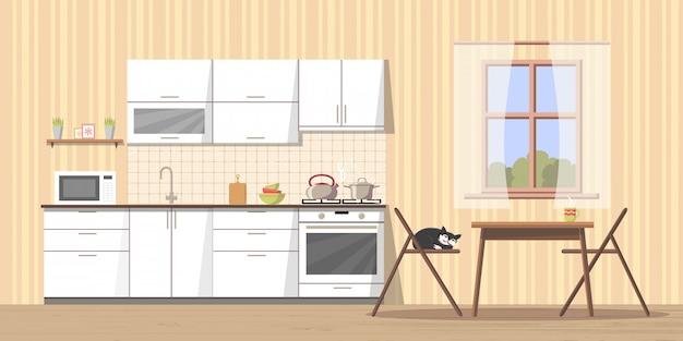 Interior da cozinha acolhedor
