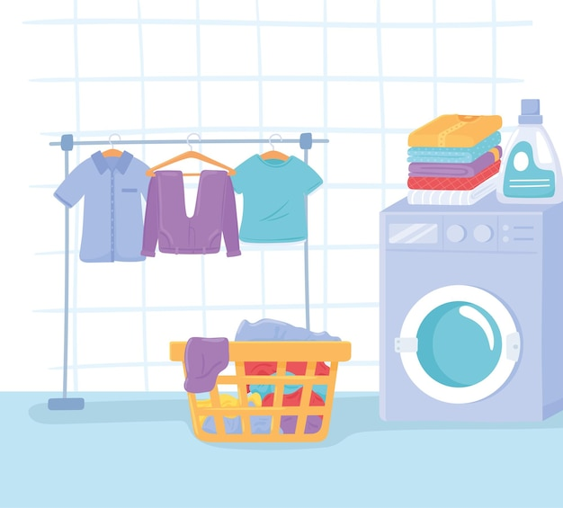 Interior da lavanderia doméstica