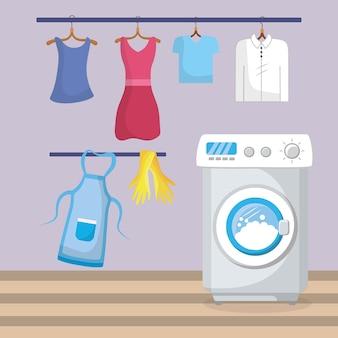 Interior da lavanderia