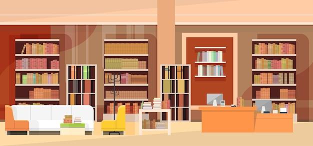 Interior da livraria, livraria com estante