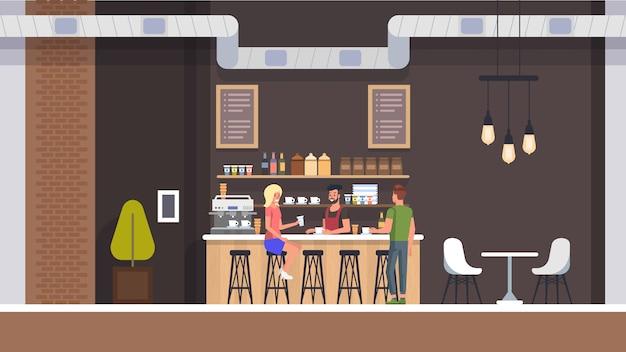 Interior da loja de café