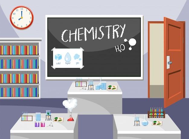 Interior da sala de aula de química