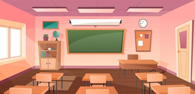 Interior da sala de aula para estudo
