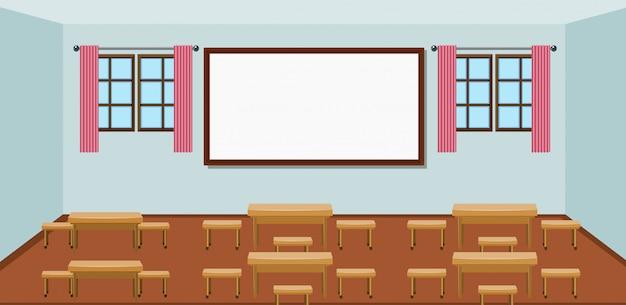 Interior da sala de aula