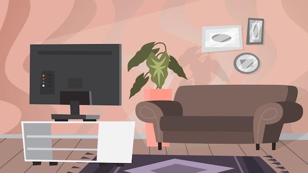 Interior da sala de estar. móveis modernos e aconchegantes