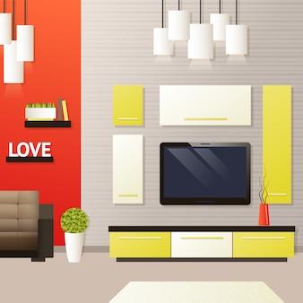 Interior da sala de estar
