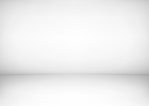 Interior da sala de estúdio. parede branca e fundo do assoalho. oficina limpa para fotografia ou apresentação. ilustração