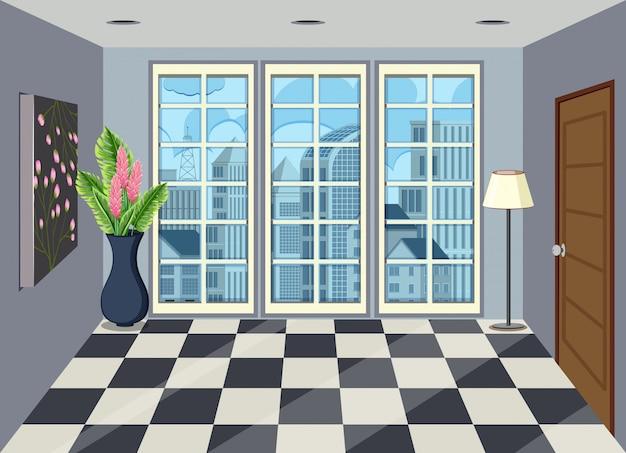 Interior da sala no apartamento alto