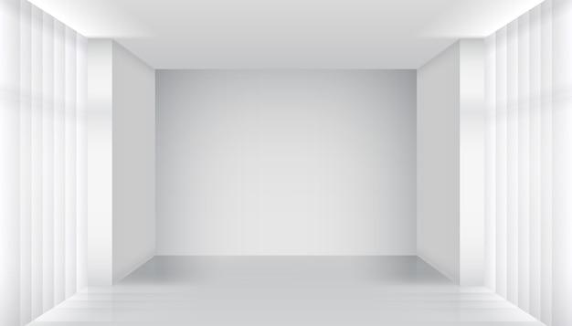 Interior da sala vazia. prédio claro, apartamento branco, arquitetura por dentro. ilustração vetorial