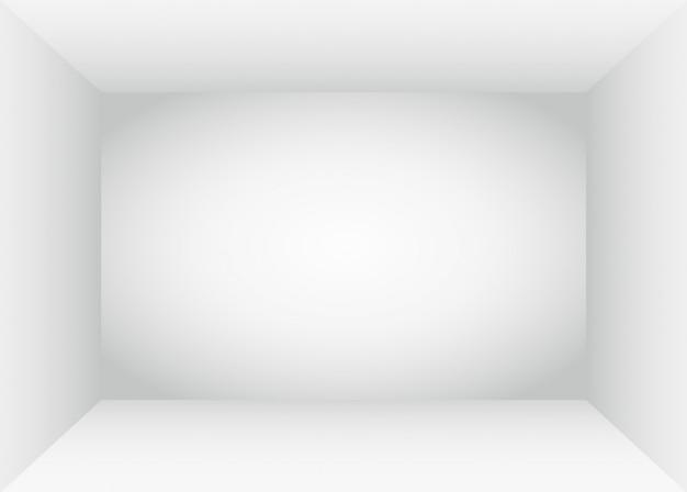 Interior de espaço vazio quarto branco