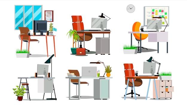 Interior de local de trabalho de escritório
