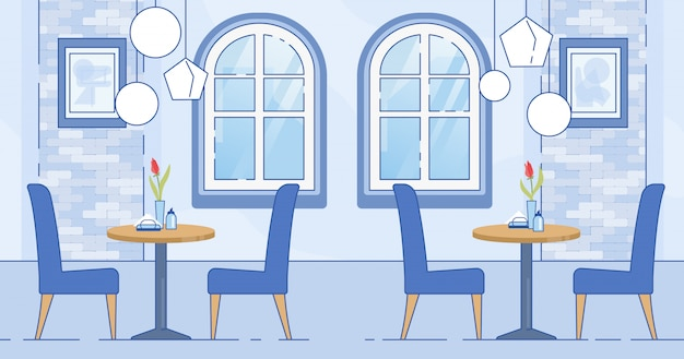 Interior de quarto moderno café na cor branca azul