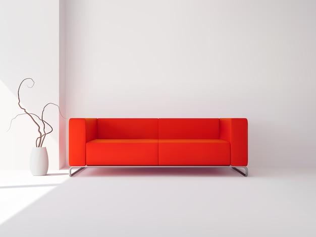 Interior de sala de estar de apartamento de luxo realista