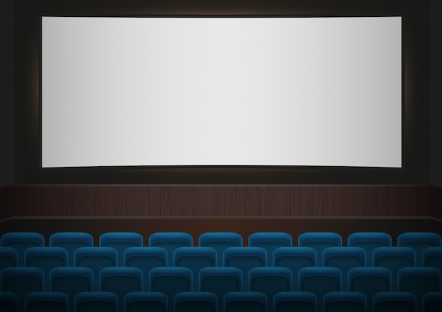 Interior, de, um, cinema, teatro filme