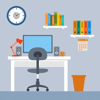 Interior de um espaço de trabalho