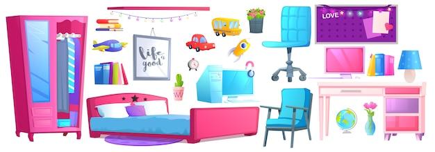 Interior de um quarto de menina